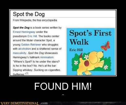 childrens-stories hemingway spot the dog wtf - 4636218112