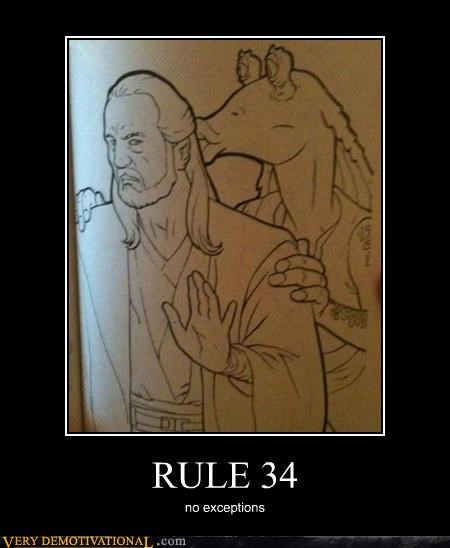 jar jar binks,qui-gon jinn,Rule 34,star wars