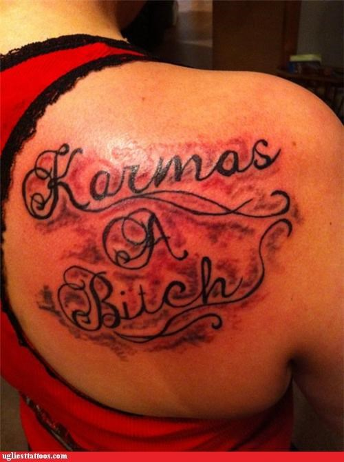 tattoos apostrophes funny karma - 4636553472