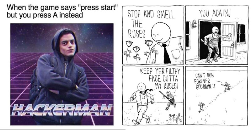 Funny memes, random memes, webcomics, comics, dogs, work, school, dating, food, twitter, spongebob squarepants.