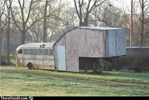 bus dual use home improvement house redneck school bus - 4637475328