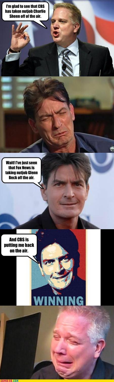 Charlie Sheen,glen beck,winning