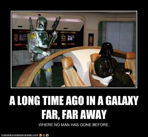 boba fett darth vader demotivational funny sci fi Star Trek star wars - 4637552640