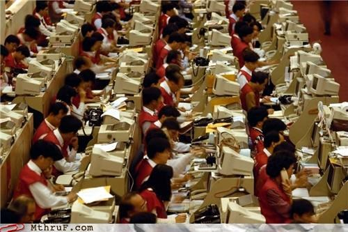 asia computer crowd Office scary - 4638023680