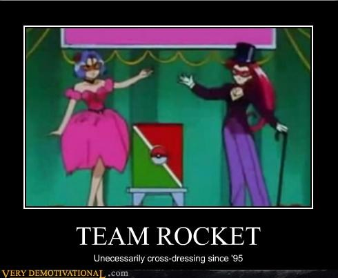 cartoons,cross dressing,Pokémon,Team Rocket,wtf