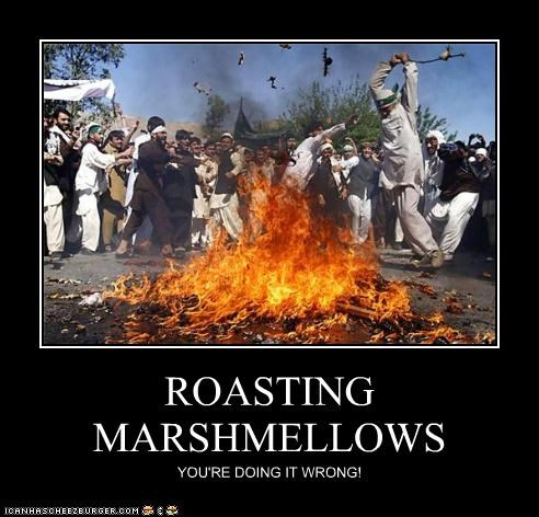 ROASTING MARSHMELLOWS YOU'RE DOING IT WRONG!