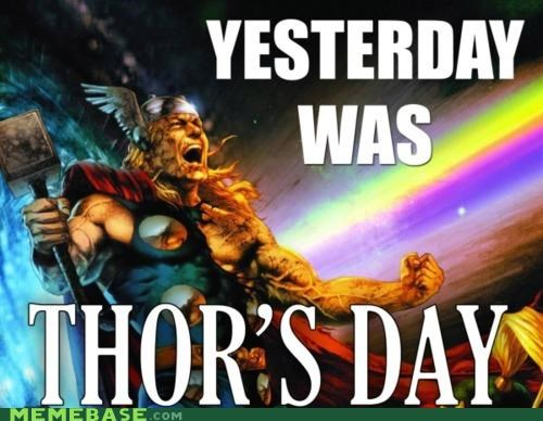FRIDAY,loki,norse,Rebecca Black,Thor