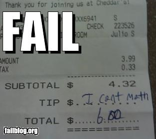 failboat,g rated,math is too hard,money,tip