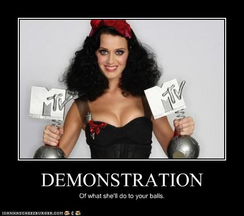 DEMONSTRATION Of what she'll do to your balls.