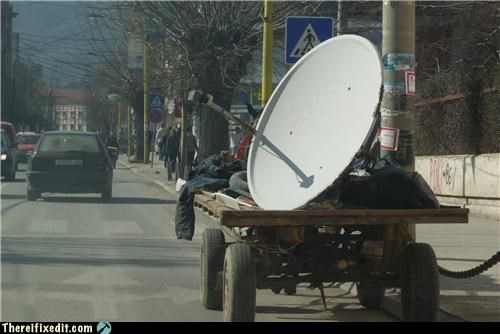 satellite,satellite dish,towing,wtf