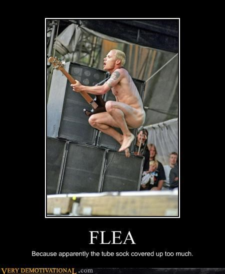 flea not clothed red hot chili peppers