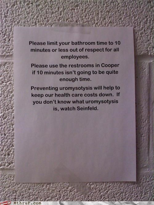 bathroom google note passive aggressive seinfeld sign uromysotysis - 4642319104