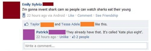 kate gosselin,shark cam