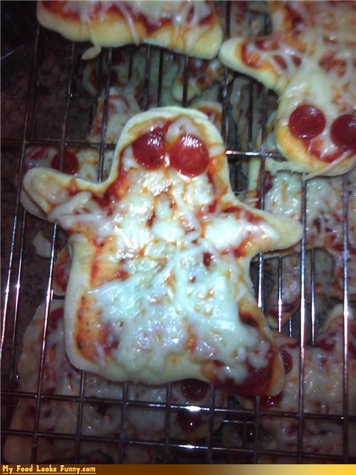 cheese ghosts pepperoni pizza spooky - 4642732032