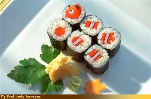 clown fish finding nemo fish Movie NEMO sushi - 4643051776