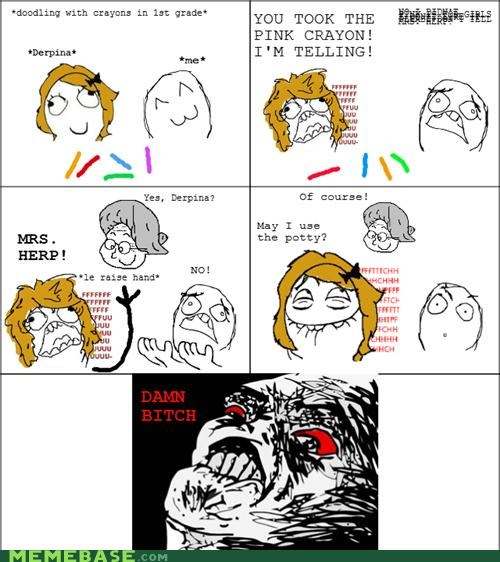 crayons,derpina,im-telling,lol,mrs-derp,Rage Comics