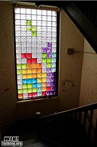 art awesome hacked irl tetris video games window - 4643219968