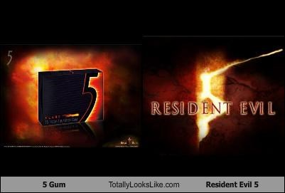 5 gum gum logos resident evil Resident Evil 5 video games - 4643273728
