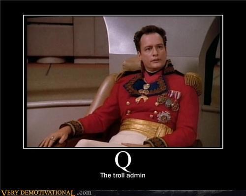 admin,Q,Star Trek,troll
