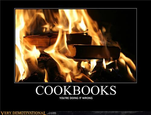 book burning,cookbooks,fire