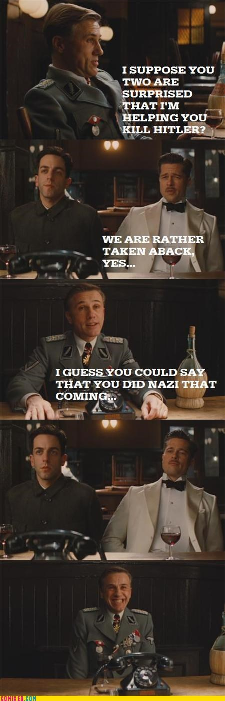 germans,Inglorious Basterds,nazis,puns