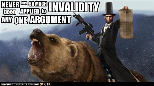 NEVER has SO MUCH INVALIDITY been APPLIED to ANY ONE ARGUMENT