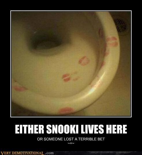 jersey shore lipstick Snookie toilet - 4644281856