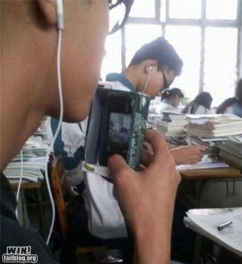 Apple product,cheating,class,clever,hidden,ipod,juice,school