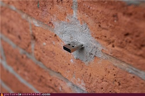 brick,building,data,storage,USB,wall