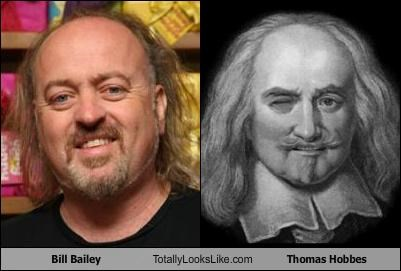 actors bill bailey British comedians philosophers Thomas Hobbes