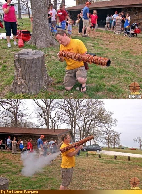 bacon bazooka projectiles shoot weapon