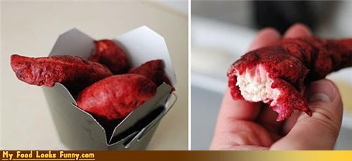 cake chicken nasty red velvet snack - 4644673024