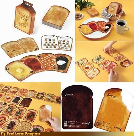 cards gambling play poker printed toast - 4644674560