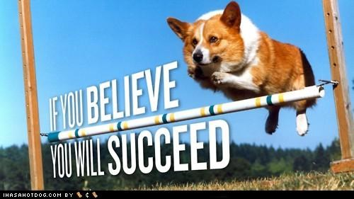 bar believe corgi hurdle jump motivational succeed - 4645168384