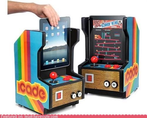 arcade cabinet games ipad joystick video games