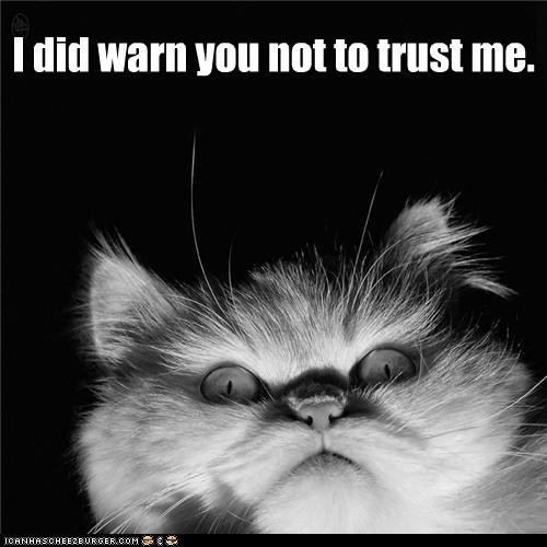 I did warn you not to trust me.