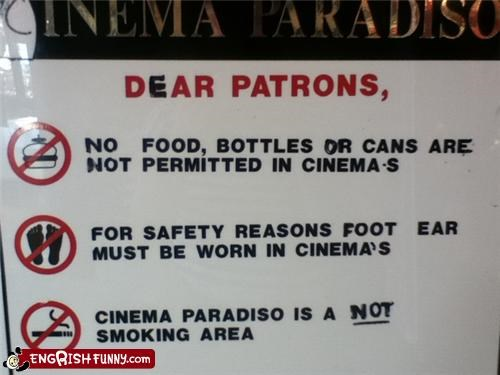 cinema,instructions,theater,warning