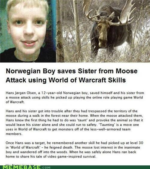 IRL,moose,Norway,sister,world of warcraft