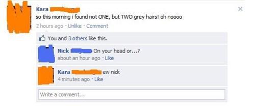 gray hairs hairs TMI