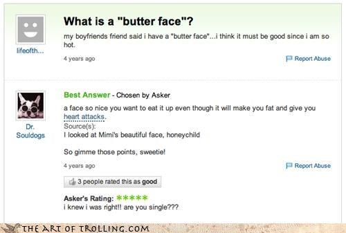 butterface,girls,mimi,single,Yahoo Answer Fails