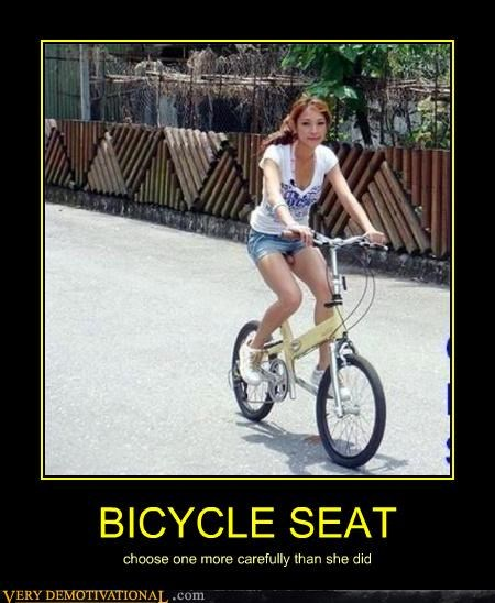 BICYCLE SEAT choose one more carefully than she did