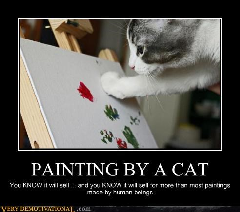 cat,hilarious,money,painting