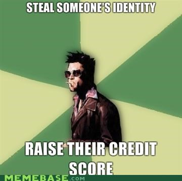 credit score,Disruptive Durden,fight club,identity,tyler durden