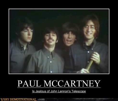 beatles,jealous,paul mccartney,Sad,Telescope