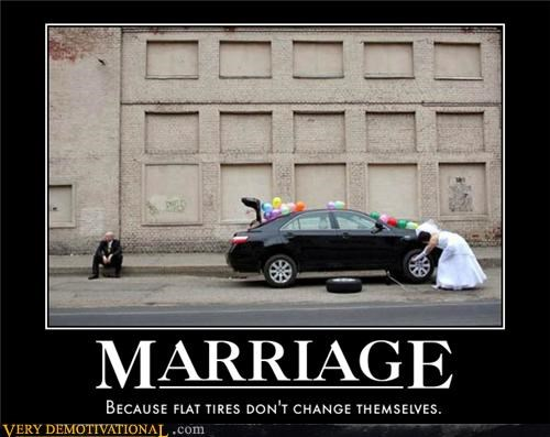 car,flat tire,marriage,Sad,wtf