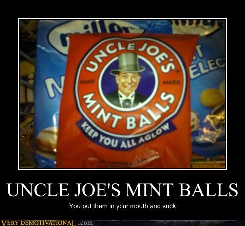 food hilarious mouth suck uncle-joes-mint-balls - 4647958528