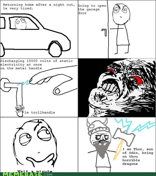 electricity,god,metal,Rage Comics,Thor,thunder