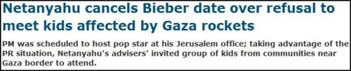 justin bieber,Middle East Politics,Surreal Headline,Twlight Zone Reference