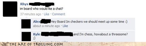 board bored chat checkers chess facebook threesome - 4648238592