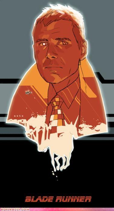 art,Blade Runner,cool,Harrison Ford,movie poster